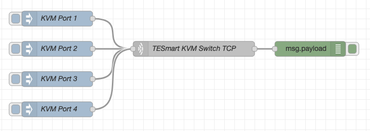 NodeRed Inject for TCP